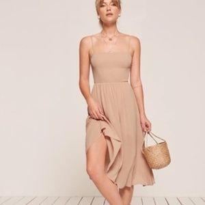 Reformation Nude Midi Dress
